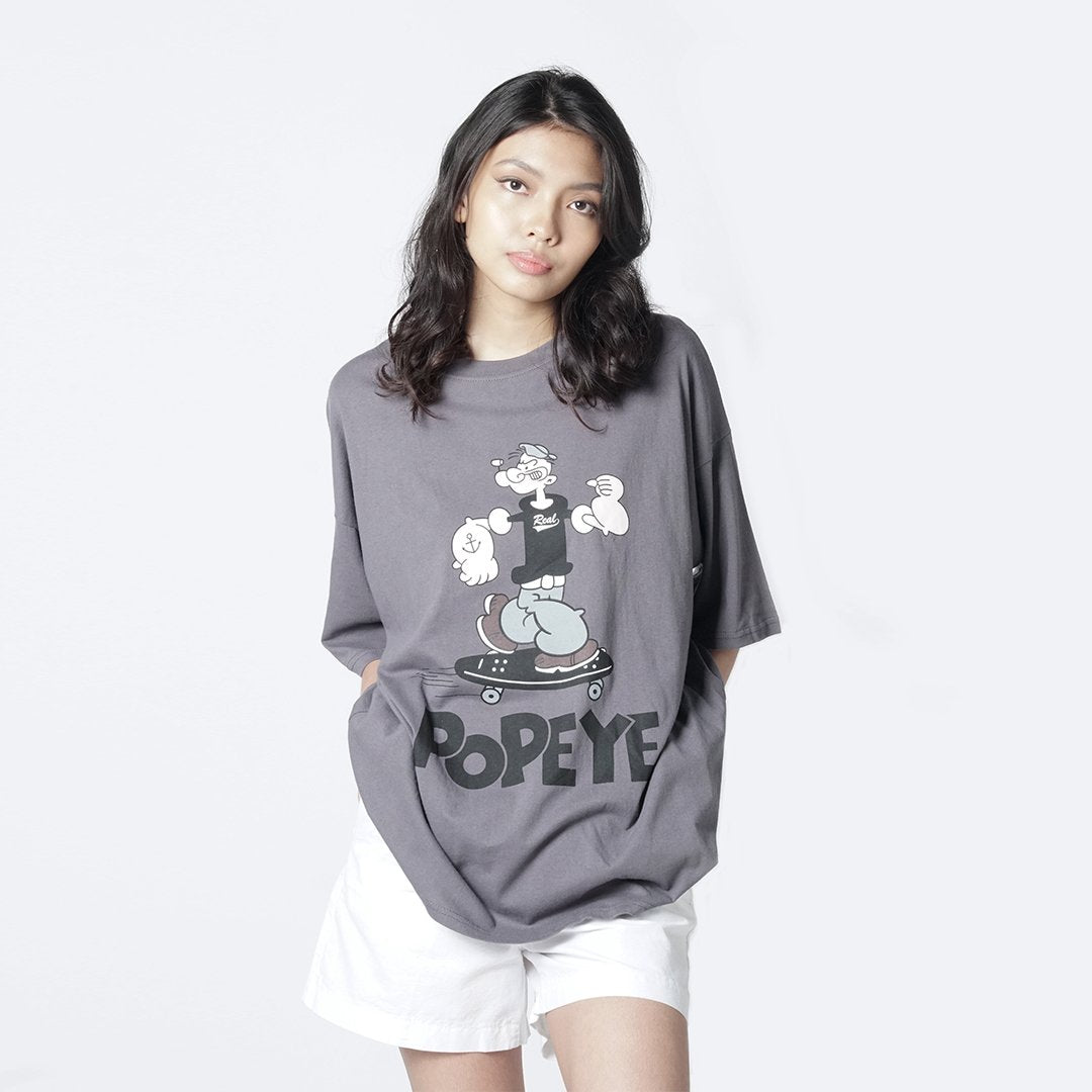 Heraposh Ovesized Shirt One Size / Grey Popeye Oversized Shirt HP-T000170b
