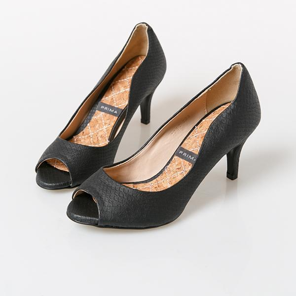 Heraposh  High Heels 230 / Black Prima Kitten Heels HP-S000011