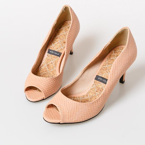 Heraposh  High Heels 230 / Peach Prima Kitten Heels HP-S000011