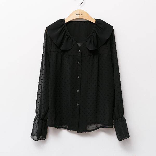 Heraposh  Tops Free Size / Black Regina Decadence Ruffled Blouse HP-T000082