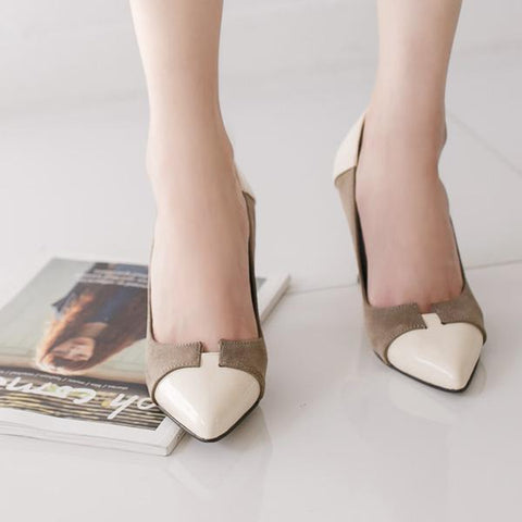 Heraposh  High Heels 230 / Taupe Samantha High Heels HP-S000003