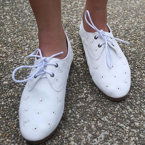 Heraposh  Sneakers 230 / White Shape Motif Loafers HP-S000028