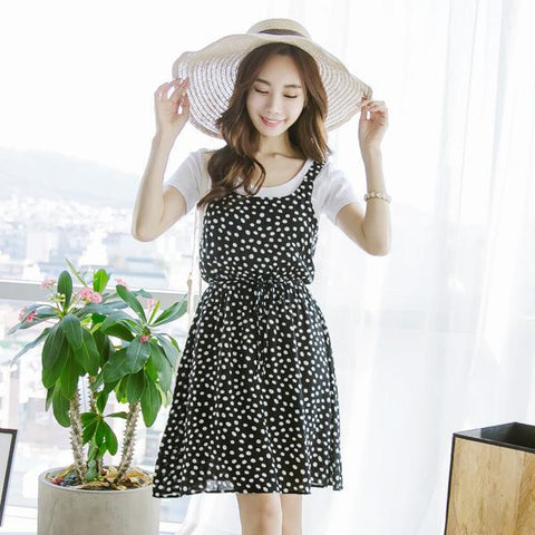 Heraposh  Dress Free Size / Black Shelby Polka Mini Dress HP-D000028