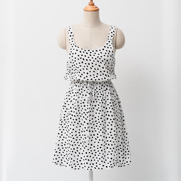 Heraposh  Dress Free Size / White Shelby Polka Mini Dress HP-D000028