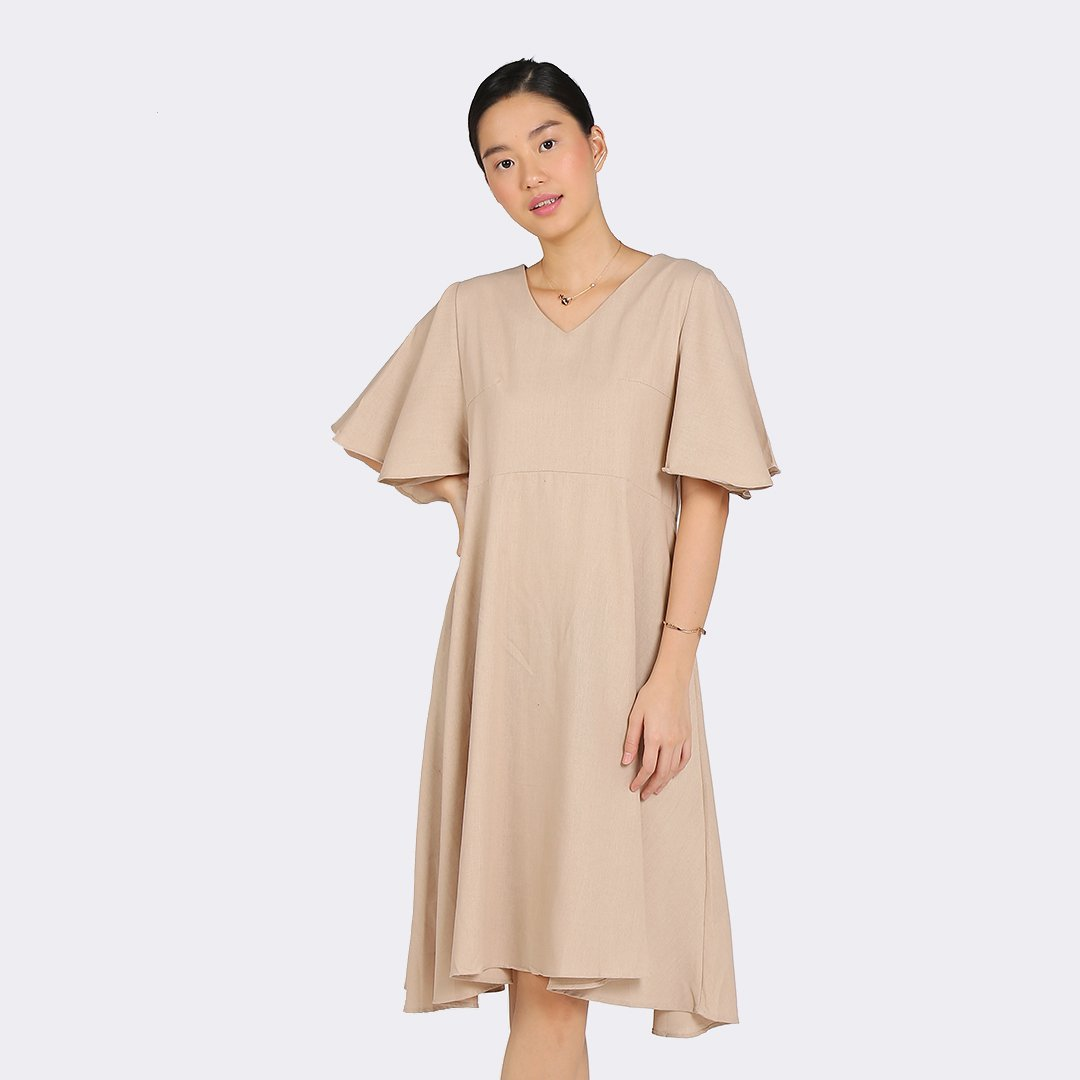 Heraposh  Dresses Free Size / Brown Taylor Tent Dress HP-D000063