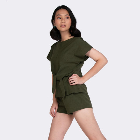 Heraposh  Tops Free Size / Navy Green The Dorothy Set HP-T000004