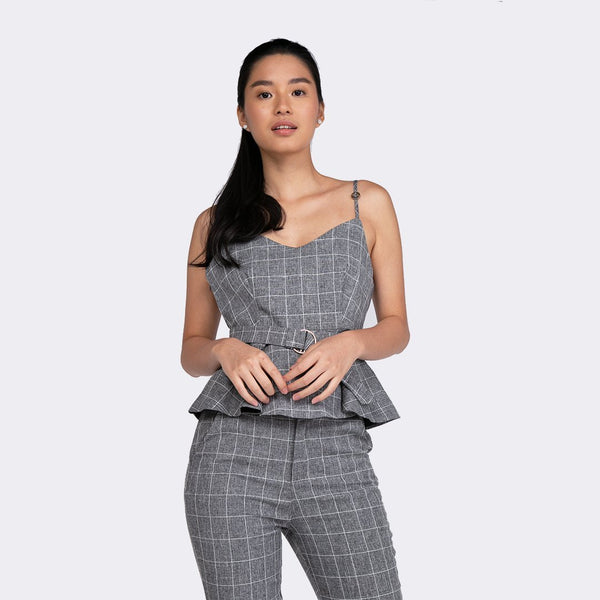 Heraposh  Tops Small / Gray The Olivia Set HP-T000085