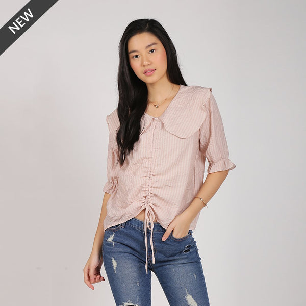 Heraposh Tops Free Size / Light Pink Tiffany Drawstring Top HP-T000164