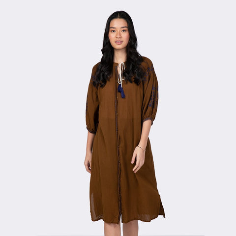 Heraposh  Dress Free Size / Cream Vanessa Boho Dress HP-D000042
