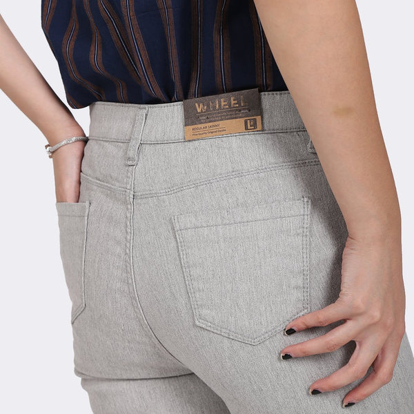 Heraposh  Bott Wheel Gray Denim Pants