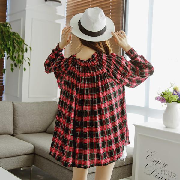 Heraposh  Tops Free Size / Black Willow Checkered Top HP-D000011