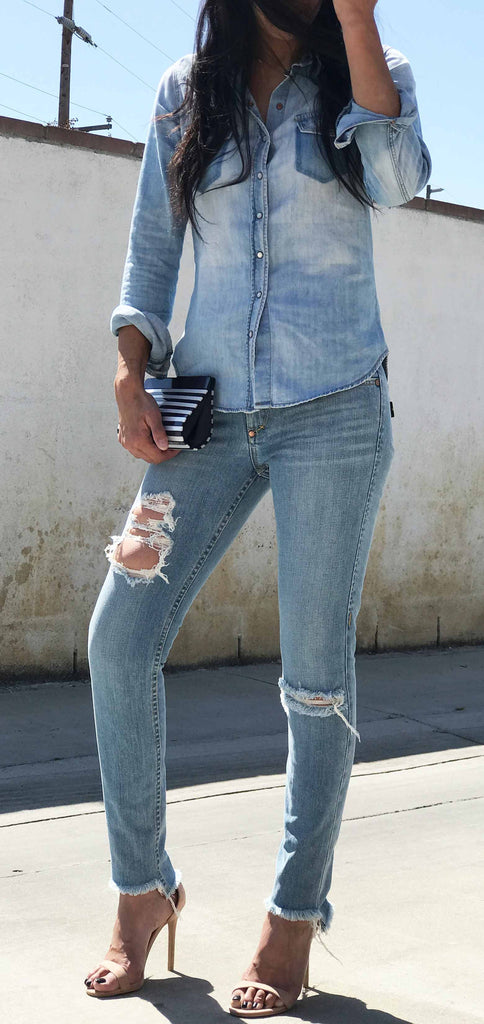 DISTRESSED SKINNY JEANS WOMEN