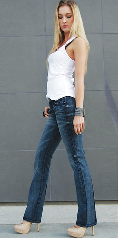 JUNE STRAIGHT LEG WOMENS JEAN MID RISE - Atom