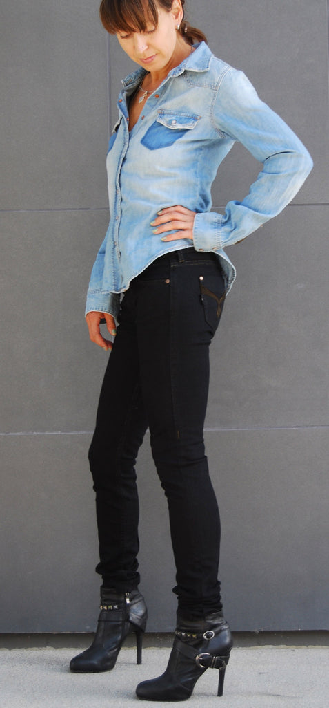 Black Skinny Jeans - Cecila (Double Black Wash)