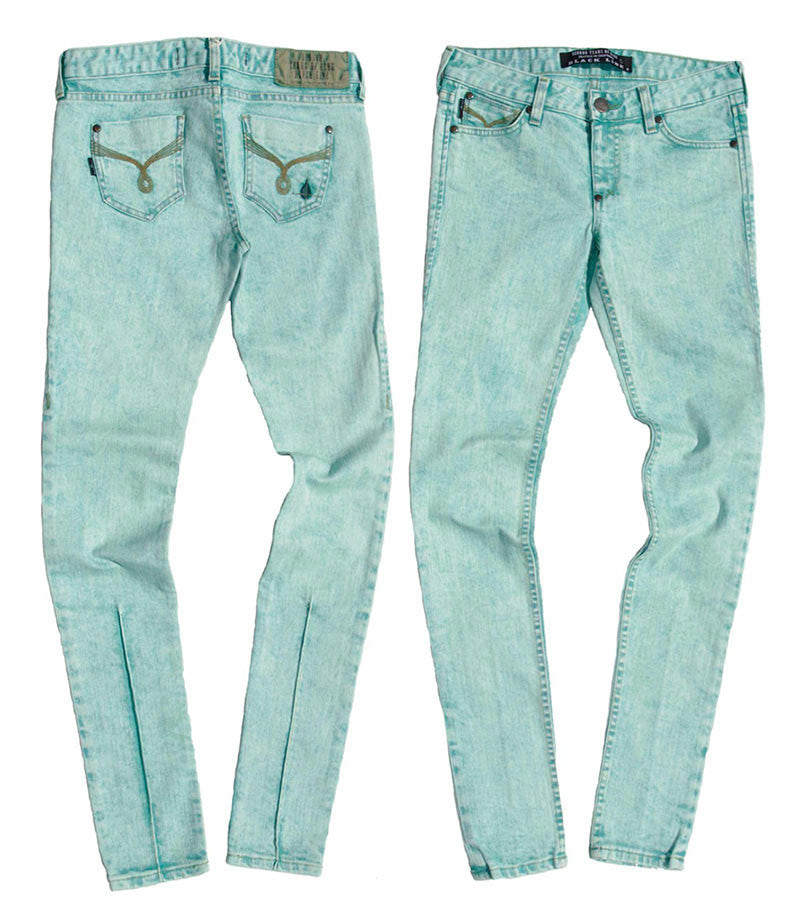 Color Skinny Jean's, Color Denim ( Aqua Color Skinny Fit Jean's )