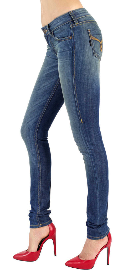 Women's Skinny Stretch Jeans - Cecilia Venus Wash