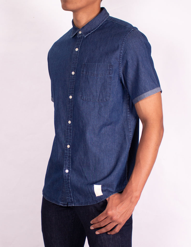 "MEN'S DENIM SHIRT - ""EASY RIDER CHAMBRAY SHIRT - DARK WASH"""