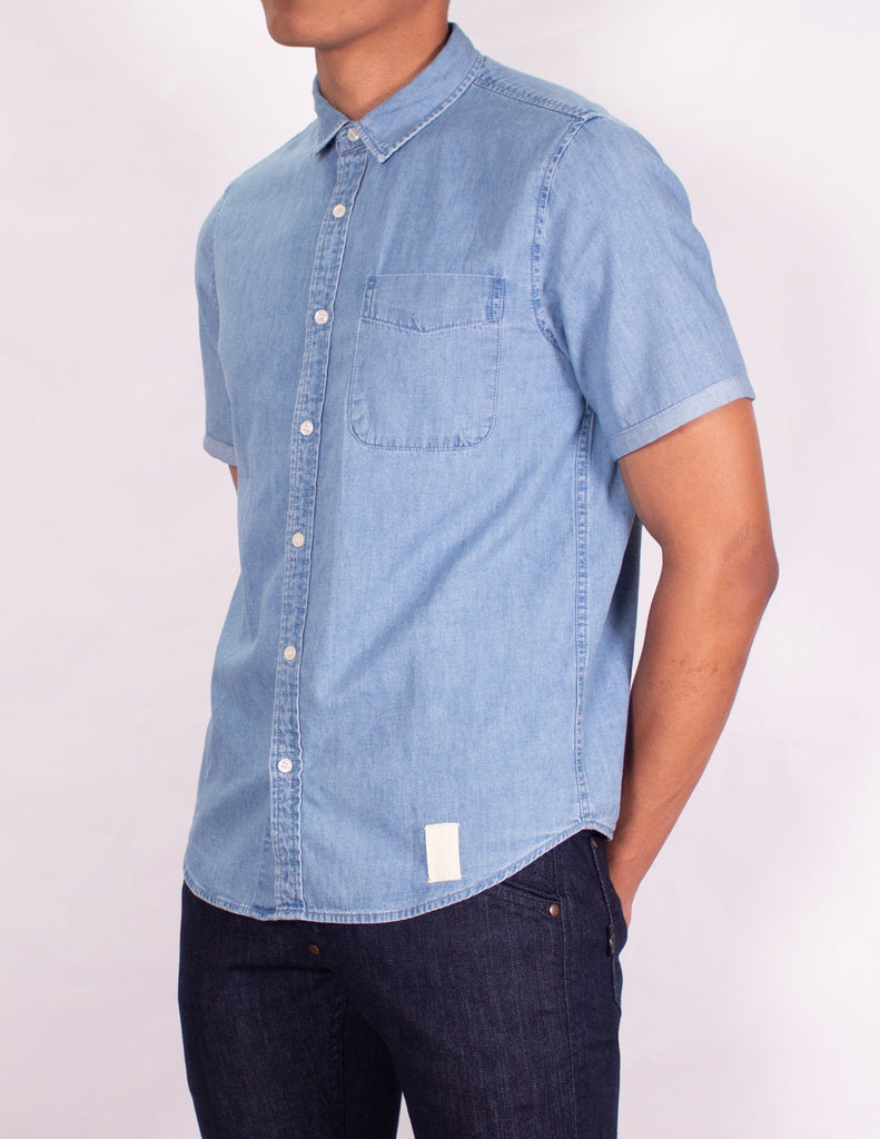 "MEN'S DENIM SHIRT - ""LIGHT VINTAGE EASY RIDER CHAMBRAY SHIRT"""