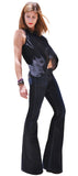 Black Flares, Wide-Leg, Bell Bottom Jeans - Womens