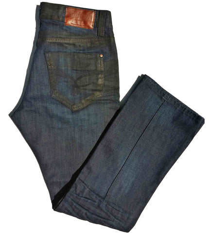 Men's Flare, Boot cut, Wide Leg Jeans in USA Denim - Hendrix, (Black Grease Wash)