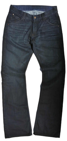 Men's Flare, Boot cut, Wide Leg Jeans in USA Denim - Hendrix (Blue Black Wash)