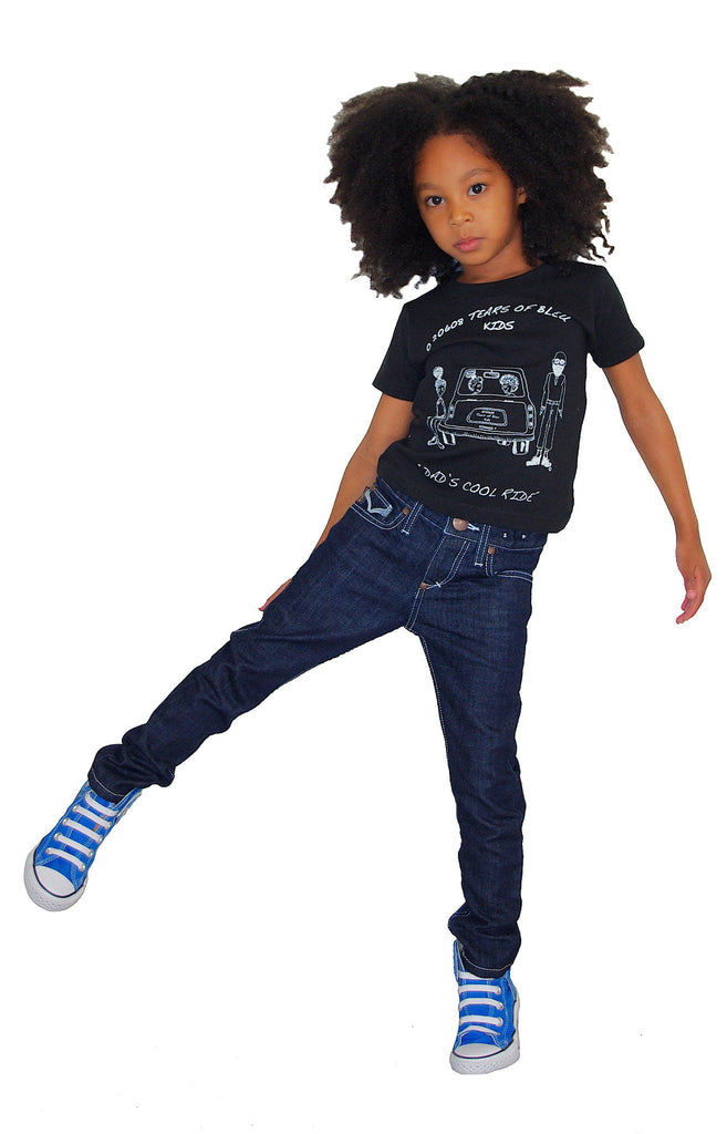 Kids Slim Skinny  Jeans, Kids Unisex Denim Jeans - Jett (Milky Way Wash)