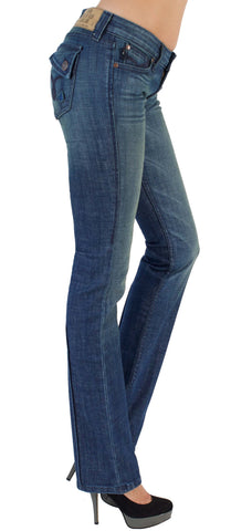 JUNE STRAIGHT LEG WOMENS JEAN MID RISE - Venus Wash