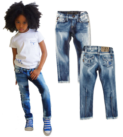 Kids Skinny Jean Unisex -  Milky Way