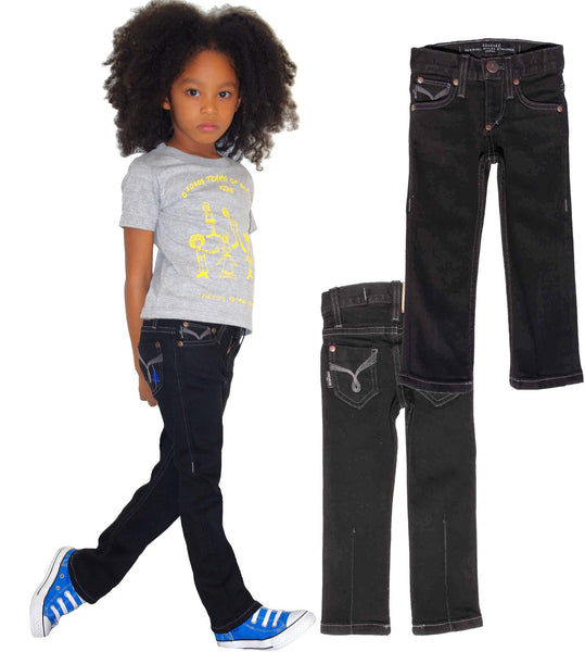 Kids Slim Straight Jean Unisex - Black