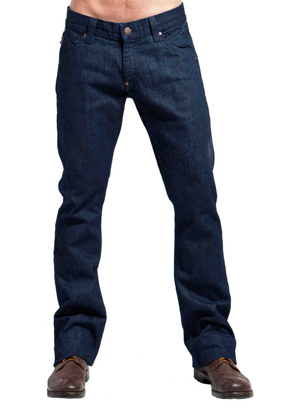 Men's Flare, Boot cut, Wide Leg Jeans in USA Denim - Hendrix (Rinse Wash)