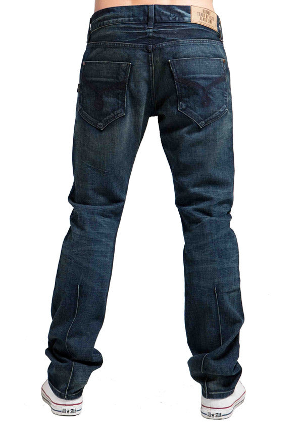 Men's Straight Jean's, Miles  - Blue Atom