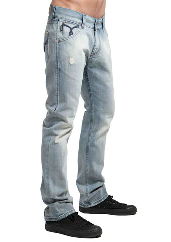 Men's Straight Jean's, Miles  - Cosmic Wash