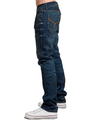 Men's Straight Jean's, Miles -  Atom Wash