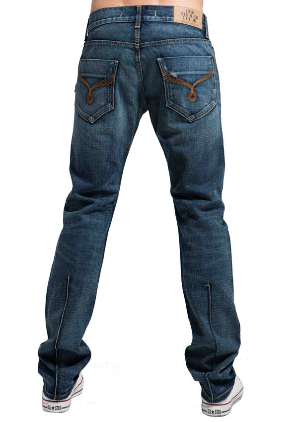 Men's Straight Jean's, Miles - Crator Wash