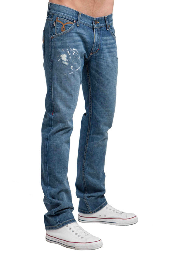 Men's Straight Jean's, Miles  - Meteor Wash
