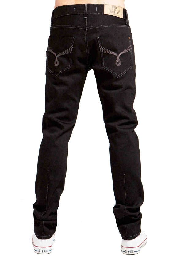 Men's Slim Skinny Jeans - Lennon (Double Black Denim)