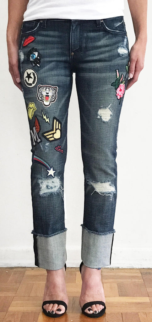 PATCHED DENIM JEAN