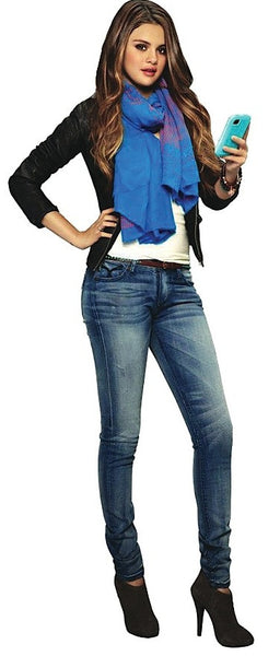 Cecila Skinny Fit Jeans - Skinny Denim Jeans. (As worn by Selena Gomez) - (Galaxy Light Wash)