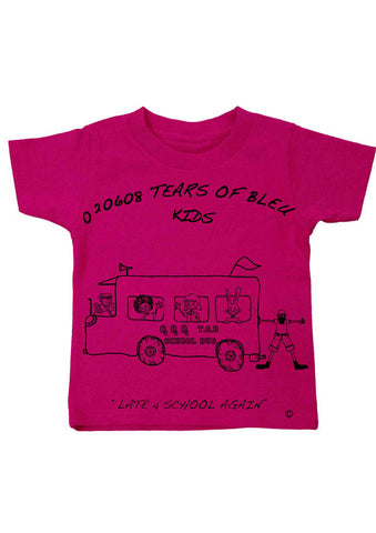 Kid's Tee Shirt - Late For School Again
