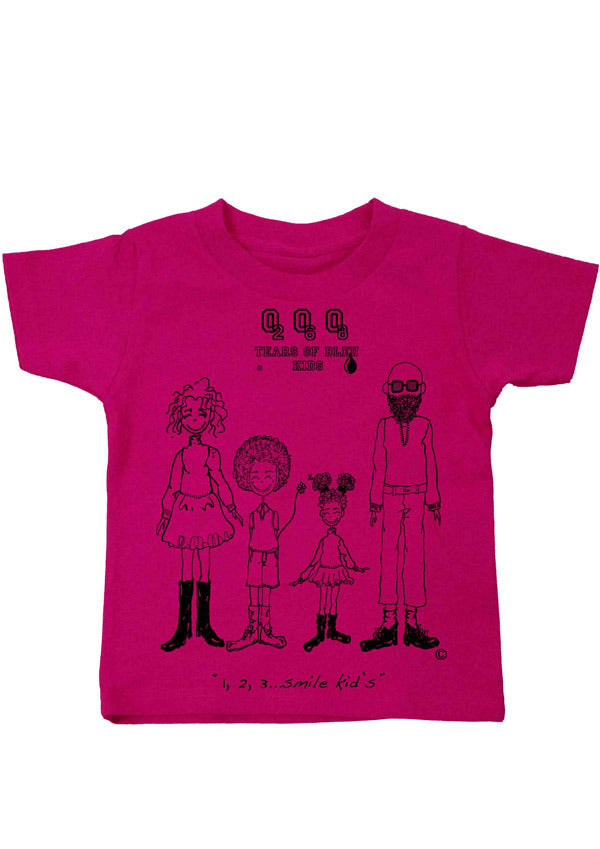 Kid's Tee Shirt - One, Two, Three...Smile