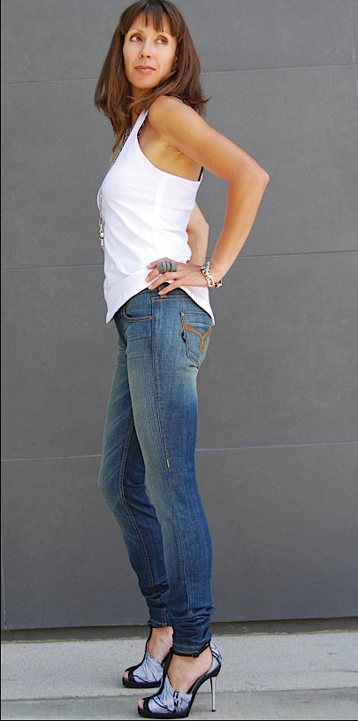 Skinny Jeans, USA Denim - Skinny Denim Jeans, (Venus Wash)