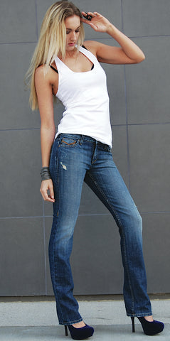 JUNE STRAIGHT LEG WOMENS JEAN MID RISE -VINTAGE