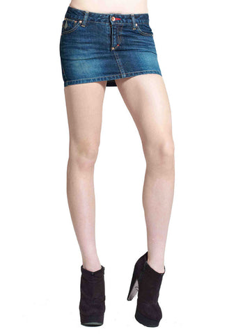 Jezebel Mini Skirt (Dark Moon Wash)