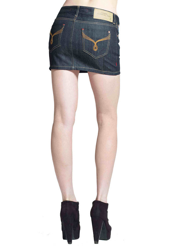 Jezebel Mini Skirt (Rinse Wash)