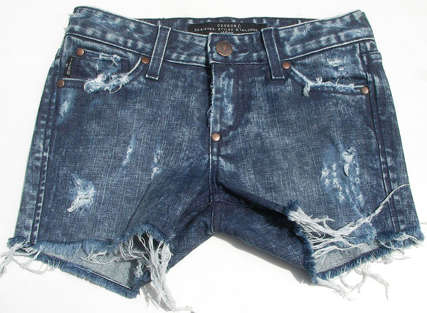 "Vintage Denim Shorts (Acid Vintage Wash) "" Candy"""
