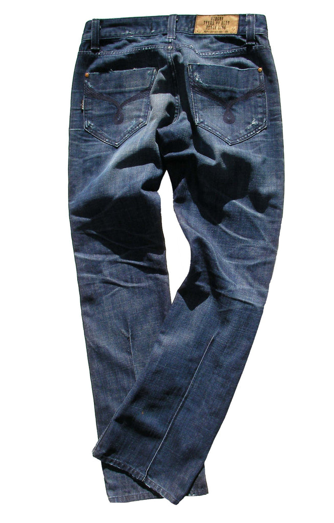 Men's Flare, Boot cut, Wide Leg Jeans in USA Denim - Hendrix (Vintage Wash)