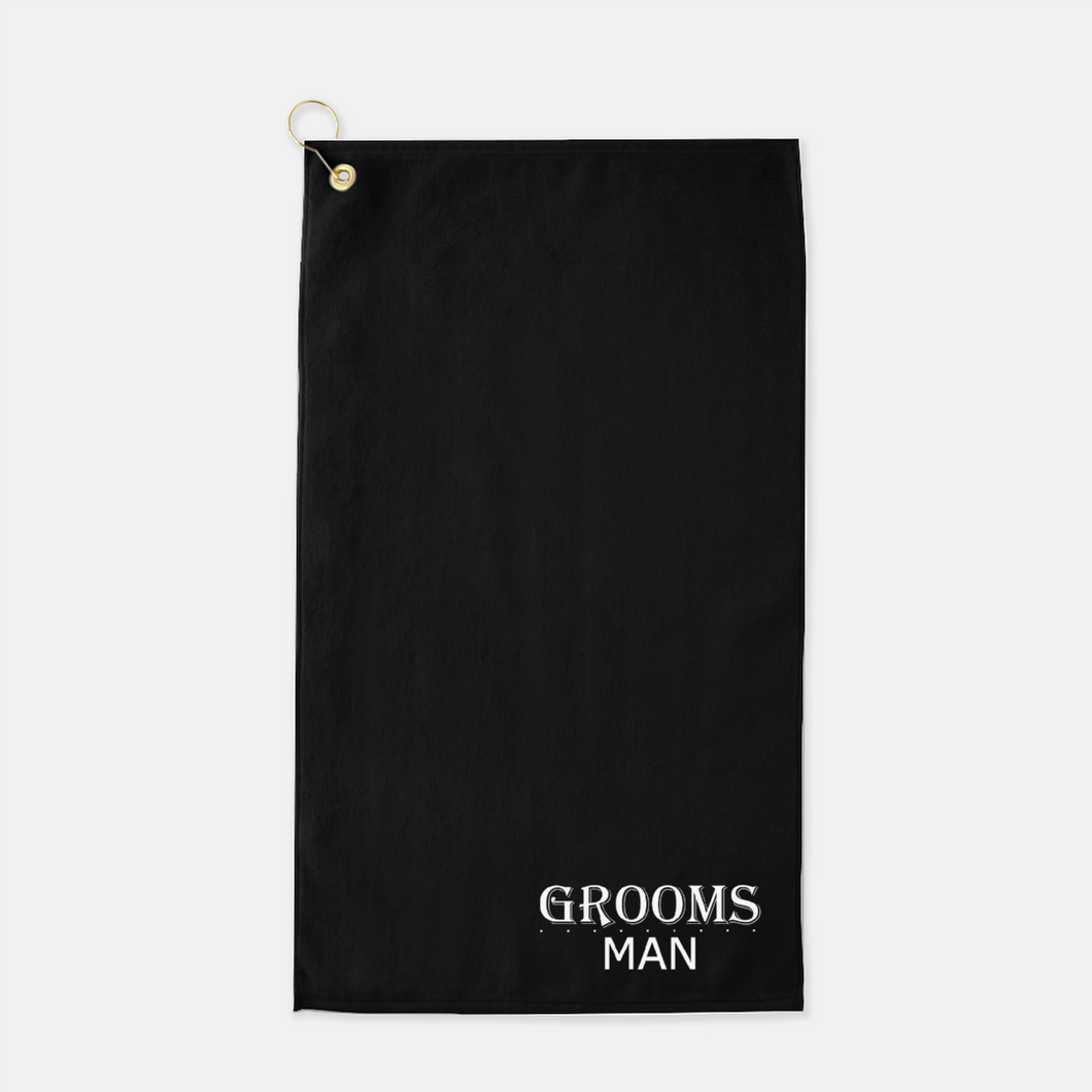 Groomsman Golf Towel - Black & White