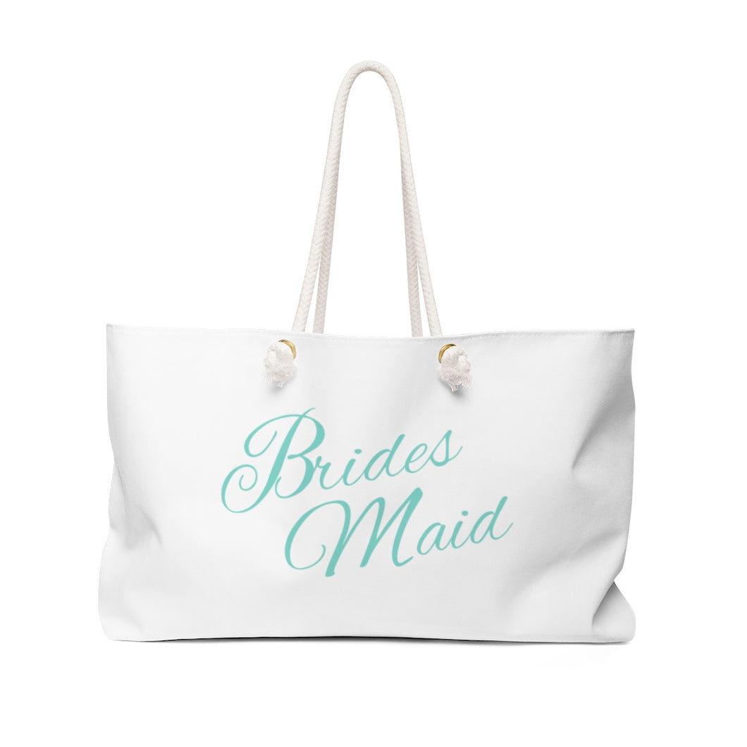 Bridesmaid Weekender Bag - White & Tiffany