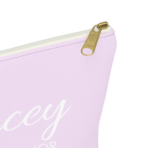 Personalized Maid Of Honor Makeup Bag - Lilac & White