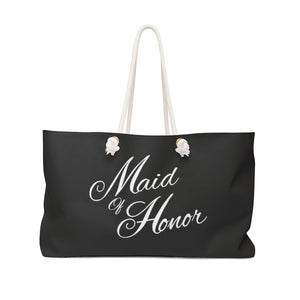 Maid Of Honor Weekender Bag - Balck & White